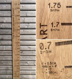 Personalised Engraved Family Height Chart