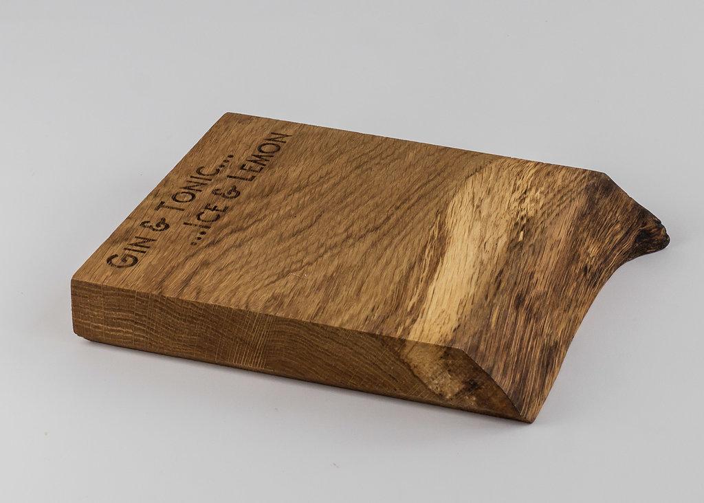 solid english oak gu0026t waney edge lemon chopping board