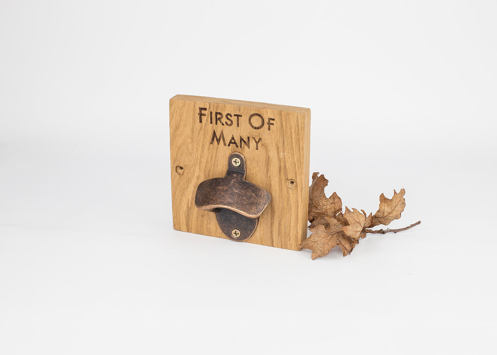 Enhlish Oak Solid Wooden Bronze Effect Bottle Opener