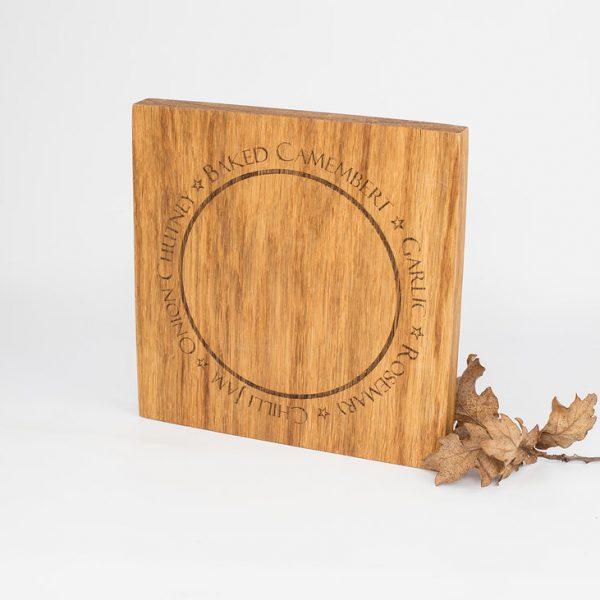 English Oak Baked Camembert Wooden Serving Board