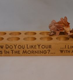 Twelve 12 Egg Holder Wooden Oak Engraved Personalised
