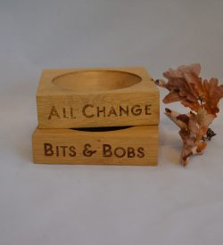 Oak Wooden Change Pot Dish