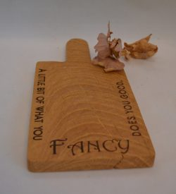 Single serve Oak Wooden Engraved Personalised Treat Board