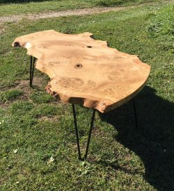 Small Pippy English Oak Table With Hairpin Metal Legs